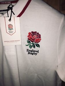 England Rugby Polo Shirt, Official Product, Sizes: Medium to XL, BNWT & bagged