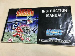 SUPER SMASH TV Sega Mega Drive Manual only no game