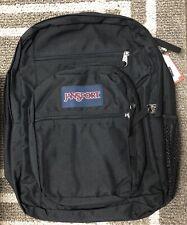 Jansport Mens Big Student Padded Laptop Backpack Black Color