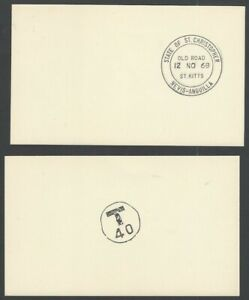 St Christopher Nevis Anguilla proof impressions of postmarks on cards (2)