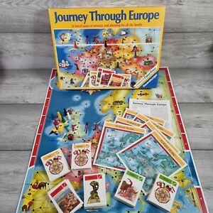 Vintage JOURNEY THROUGH EUROPE Strategy Board Game Ravensburger 1982 Complete