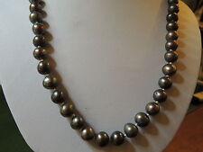 Collana di perle grigio di coltivazione
