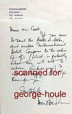 SEAN O'FAOLAIN - LETTER - AUTOGRAPH - IRISH AUTHOR - HARVARD