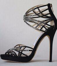 Jimmy Choo Diva Crystal Cage heels 37.5 US 7.5 UK 4.5