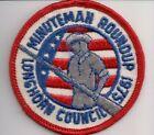 Longhorn Area Council, Texas, 1975 Minuteman Roundup Patch