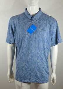 Columbia Polo Shirt Men's 2XL Broadleaf Canopy Blue NWT