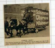 1920 German Furniture Van Schumacher's Ubersee Mobeltransport Seen In Whitehall
