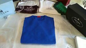 NWT £855 rare Isaia Napoli luxury cashmere royal blue sweater XXL UK 46 EU 56