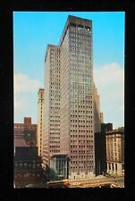 1950s Alcoa Building World's First Aluminum Skycraper PCC Trolley Pittsburgh PA