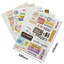 New 6pcs Retro Calendar Paper Stickers for Scrapbooking Diary Planner Sticky AU