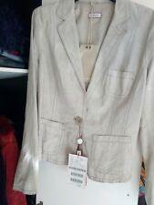 MAX & CO giacca in vera pelle tag. 42 intagliata e cuciture in vista. 70% SCONTO