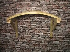 Timber / Poly Carbonate Open Front Door Canopy Porch  Bespoke Hand Made Porch