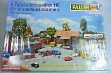 C / Spur H0: FALLER Set KLEINGEWERBE; 5 Gebäudebausätze für Modelleisenbahn