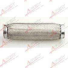 """3.5"""" Exhaust Flex Pipe 3 1/2"""" x 10"""" OL Heavy Duty Stainless Steel Interlock"""