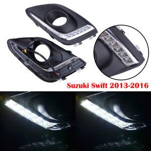 LED Daytime Running Light DRL Driving Fog lamp for Suzuki Swift 2014 2015 2016