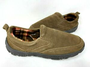 Clarks Men's Baxter Indoor/Outdoor Fleece Lined Slippers Brown Size:10 140Q tz
