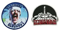 Scorpions Blackout Classic Iron On Embroidered Patch 2 pc Set New Official Band