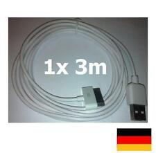 iPhone 4 4S iPod Touch Ladekabel Apple iPad 3m lang 10ft USB 3G 3GS Neu & OVP