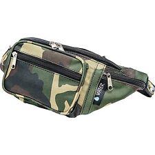 Camo Pattern Water-Repellent Fanny Pack,  Mens Army 5 Pocket Waist Belt Bag
