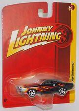 Johnny Lightning 1970 DODGE CHALLENGER R/T BLACK w FLAMES JL2 1/64 RELEASE 2