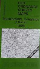 Old Ordnance Survey Maps Potteries area Staffordshire Newcastle Betley  1895 123
