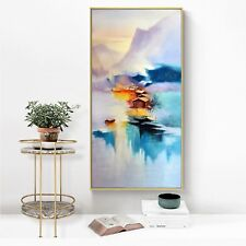 Abstract Ink Oil Paint Landscape Silk Canvas Poster Art Decor Unframed A548
