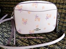 New w tag Coach 29347 Ice Pink Floral Bow Camera Bag Crossbody Purse $275