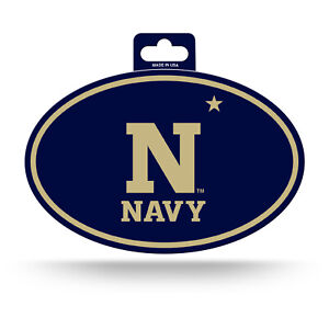 Navy Midshipmen Oval Decal Sticker Full Color NEW 3x5 Inches Free Shipping