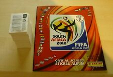 Panini World Cup stickers 2010 loose complete set MInt + Empty Album  UK