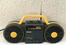 PHILIPS Retro Yellow D-8008 / 05E ROLLER FM/MW/LW/SW Radio Cassette Player