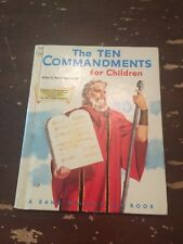1956 The Ten Commandments for Children by Mary Alice Jones A Rand McNally Book