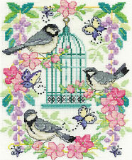 Cross Stitch Kit ~ DMC Oriental Birdcage #BK1563