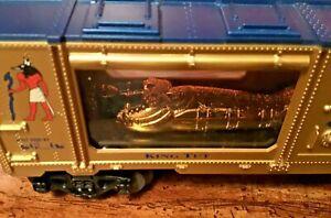 LIONEL KING TUT MUMMY MUSEUM CAR 6-19669 NOS  O  O/27 GAUGE TRAIN SET 1999 TOY