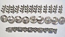 3 Sets 2 Hole Metal Bracelet Slider Beads ~ Loose Beads ~ 3 Different Bracelets