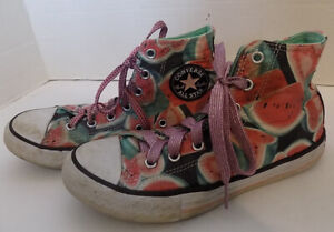 Junior Converse All Star Sneakers Watermelon Print Size 3 High Top