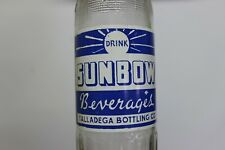 Sunbow Beverages Soda Bottle, Talladega Bottling Co. Could be Alabama 1945