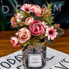 12 Head Daisy Rose DIY Decor Artificial Silk Flowers New Pretty Home Craft