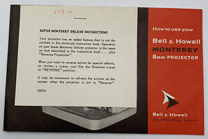 Bell & Howell Monterey 8mm Movie Projector Owners Manual Guide Instruction Book