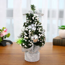 "7.87"" Christmas Tree Flowers Desk Table Decor Festival Party Ornaments Xmas Gift"