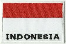 écusson ECUSSON BRODE PATCHE PATCH THERMOCOLLANT DRAPEAU INDONESIE DIM. 7 X 5 CM