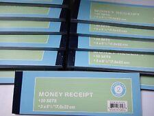 100X-Carbonless Cash Money Rent receipt record book 2 part 50 sets duplicate