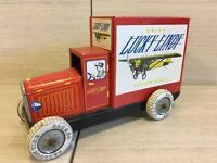 VINTAGE TIN TRUCK SCHYLLING- LUCKY LINDY CREAM SODA