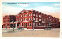 Hutchinson Kansas 1920s Postcard Convention Hall