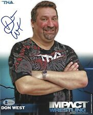 Don West Signed 8x10 Photo BAS Beckett COA TNA Impact Wrestling Promo Picture 11