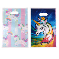 10pcs unicorn plastic gift bags candy bag loot bags for kids birthday decorEP