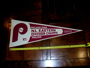 Philadelphia Phillies 1983 N.L. Eastern Division Champs Full Size Pennant EXC