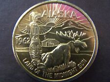 1962 ALASKA--LAND OF THE MIDNIGHT SUN BRONZE SOUVENIR TRADE DOLLAR