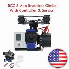 Drone CNC FPV BGC 2 Axis Brushless Gimbal +Controller f  3 Camera DJI E8Y3