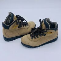 ASOLO Rainier Suede Leather Hiking Boots Vibram Outsoles Womens Size 8 Beige Tan