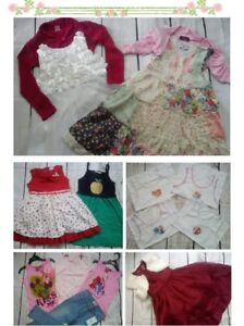 58x NEW USED BUNDLE OUTFITS GIRL CLOTHES 4/5 YRS (7.5)